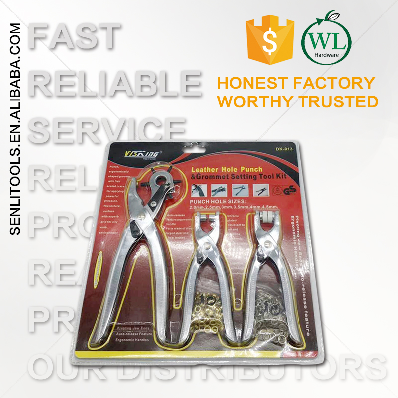 Multi-Function Portable Puncher Heavy Duty Leather Hole Punch Hand Pliers Belt rectangle Holes Punchers
