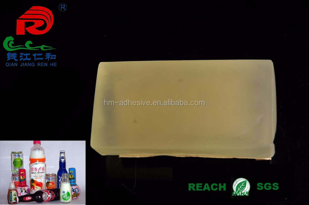 transparent hot melt adhesive glue for plastic bottles labeling