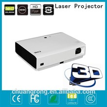 CRE X2500 world first motorized proyector ceiling mount + 120 / 300 inch projector screen + passive 3d projector