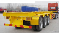 Factory !! 40ft Flatbed Platform Container carrier Semi Trailer link with Howo truck head / Prime mover for sale