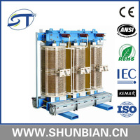 New design 11kv 415v 3-phase dry type environment protection transformer with low voltage foil winding of ST brand