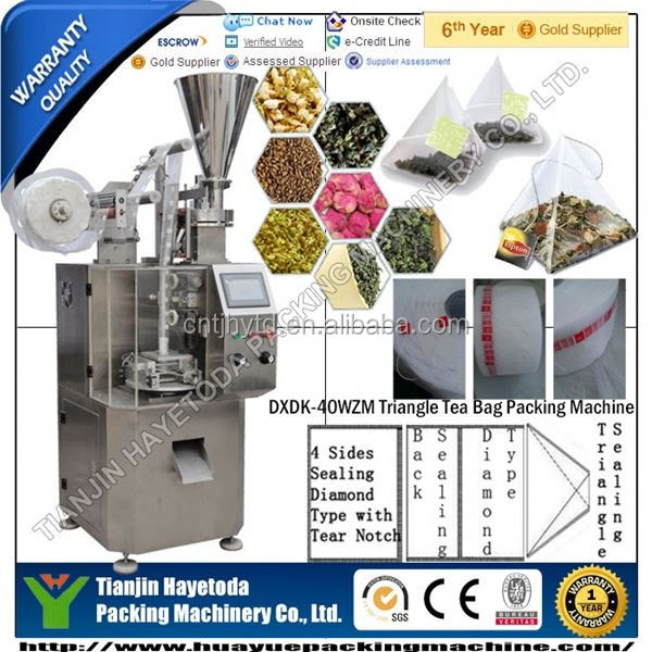 triangle herb tea bag packaging machine filling machine teabag with thread