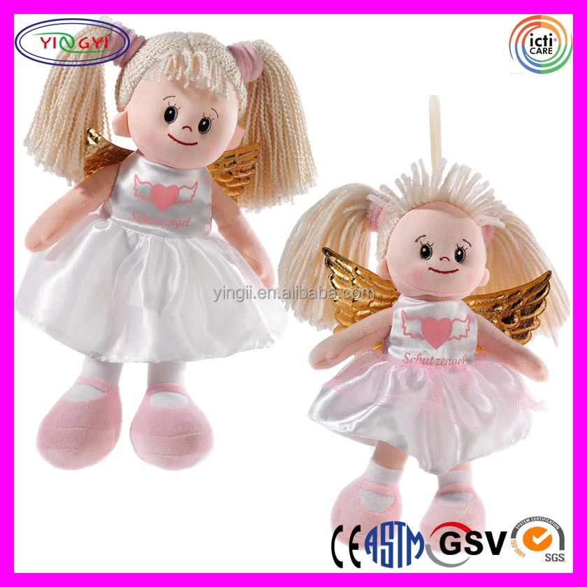 A652 Factory OEM Girl Angel Doll Plush Stuffed Cute Beige Blythe Doll