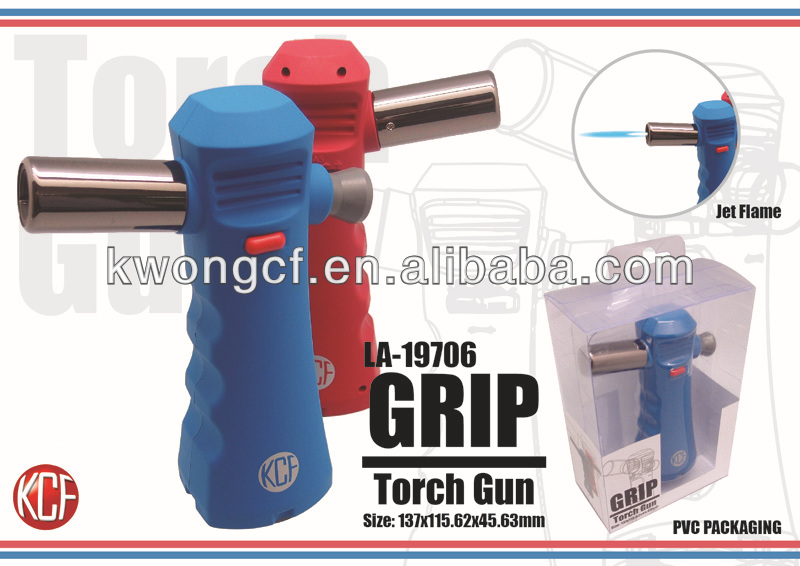LA-19706 Grip Torch Gun Design cigarette jet flame lighter