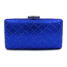 2017 Fancy Box Clutch Bag Evening Purse In Diamond For Ladies Party
