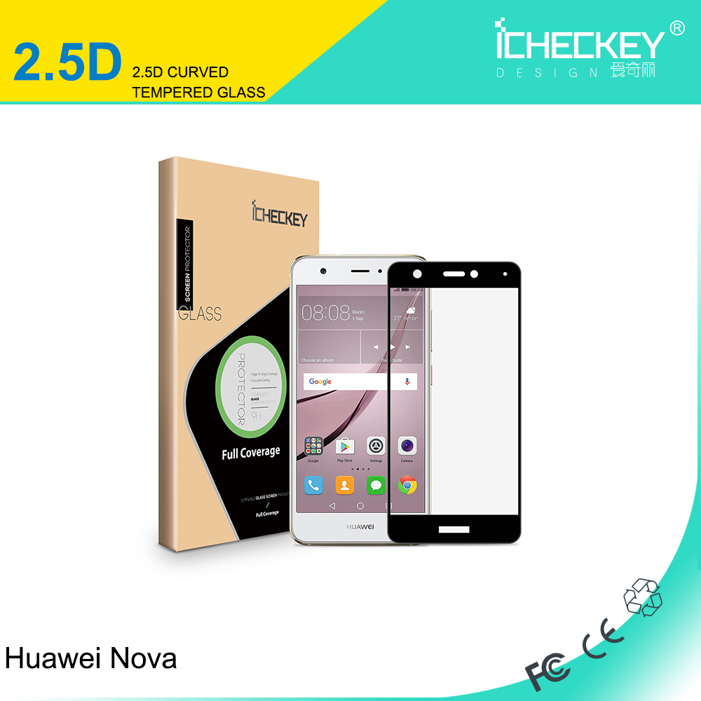 High quality 0.33mm colorful tempered glass screen protector for Huawei Nova