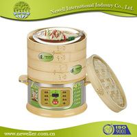 2015 Hot Sell round glass food steamer with ISO