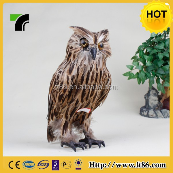 Beautiful handicraft festival decoration feathered owl