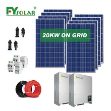 20000w solar power system home price with grid tie inverter 20kw popular in Dubai