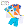 Alibaba Wholesale children boutique clothing with sailor design tops+ short pants pique kid boys polo sets