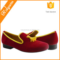New model leather tassel loafers fashion red color casual turkey mens male shoes