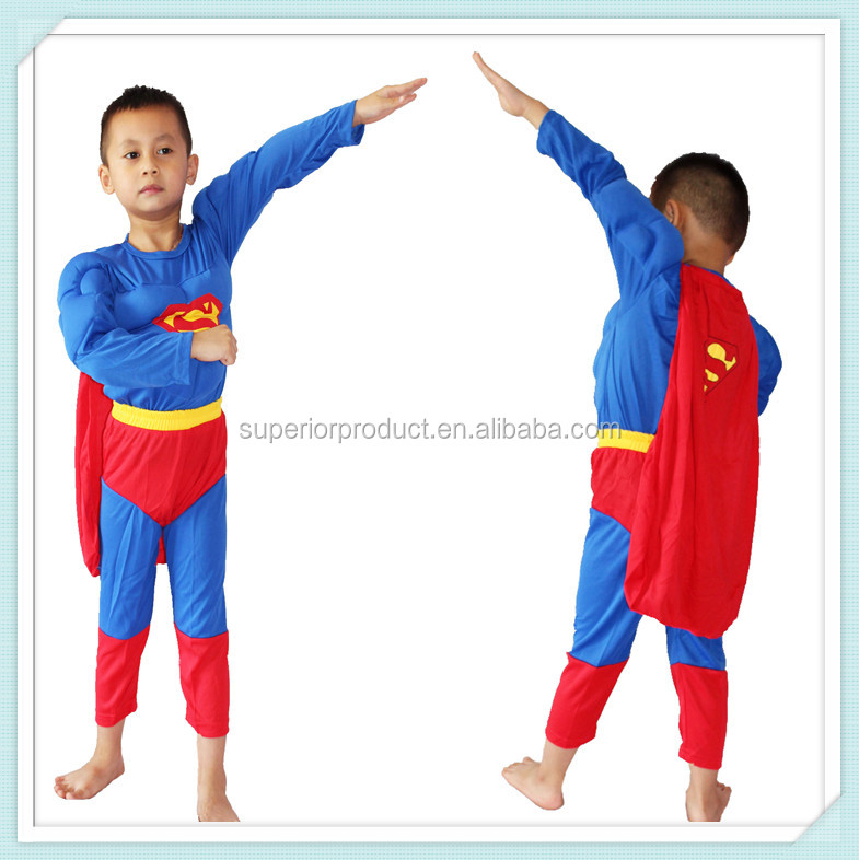 Fashion sexy costume cosplay costume super hero costume with muscle tank tops super heroes clothes deluxe muscle chest superman