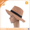 Black Felt Fedora Hat For Ladies