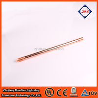 "Internal threaded copper earth rod high conductivity 5/8"" 3/4"" UL listed copper earth rod price"