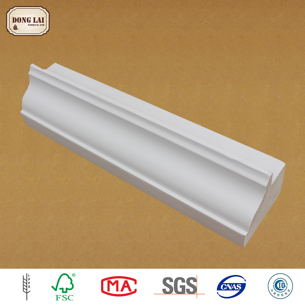 High Quality white gesso primed finger Joint Laminated Wooden Door Frame