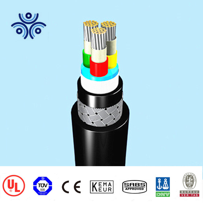 BV xlpe insulated LSHF electrolytic stranded annealed copper/tinned copper marine power and control cable shipboard cable