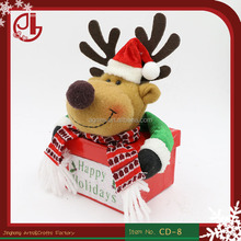 Moose Elk Deer Cute Design Xmas Bags Covers Indoor Christmas Party Decoration Supplies Candy Box OEM Wholesales