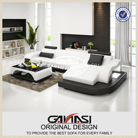 GANASI l shape sofa cum bed,soft line leather sofas,2013 new model sofa