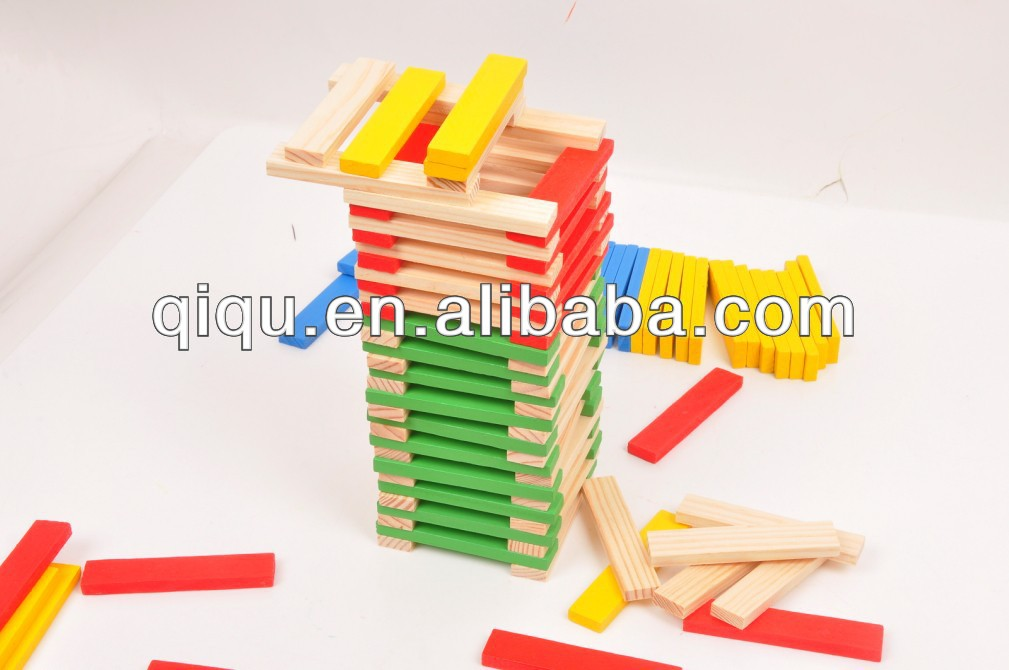 Wooden Colorful Building Block Toy Set