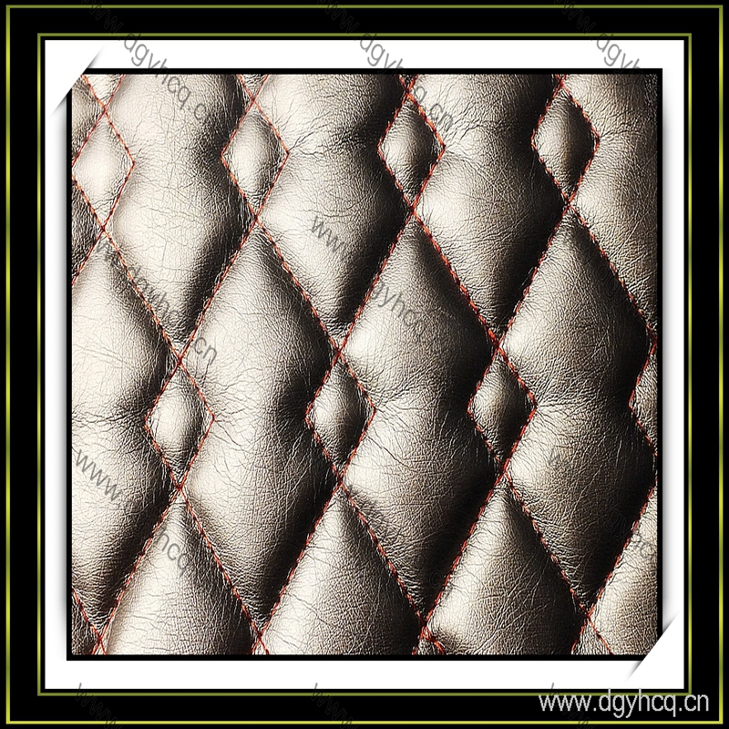 high quality sewing pattern semi pu leather laminated sponge for sofa