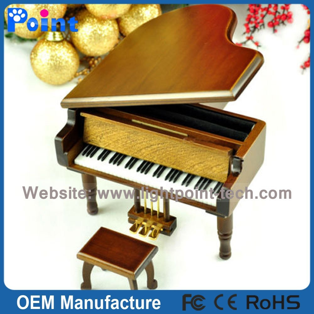 piano shape music box cheap sankyo music boxes