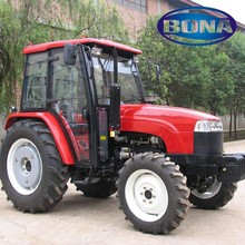 big power 4 wheel 60hp 4wd farm tractor with front loader for sale