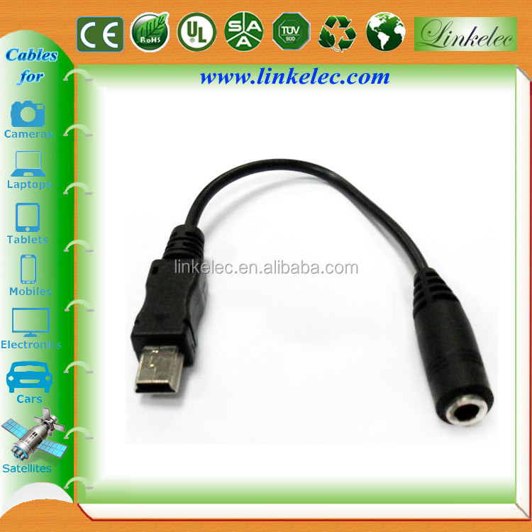 Shenzhen high stereo mini usb to 3.5mm jack adapter