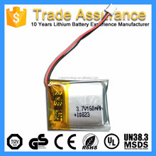 302430 502223 401730 302530 Small 3.7V 160mAh Rechargeable Flat Cell Lithium Ion Battery