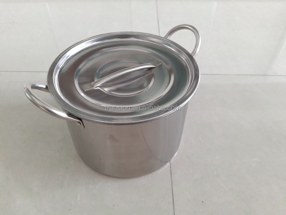 3pcs stock pot set, 5 Gallon Stainless Steel Stock Pot with Lid