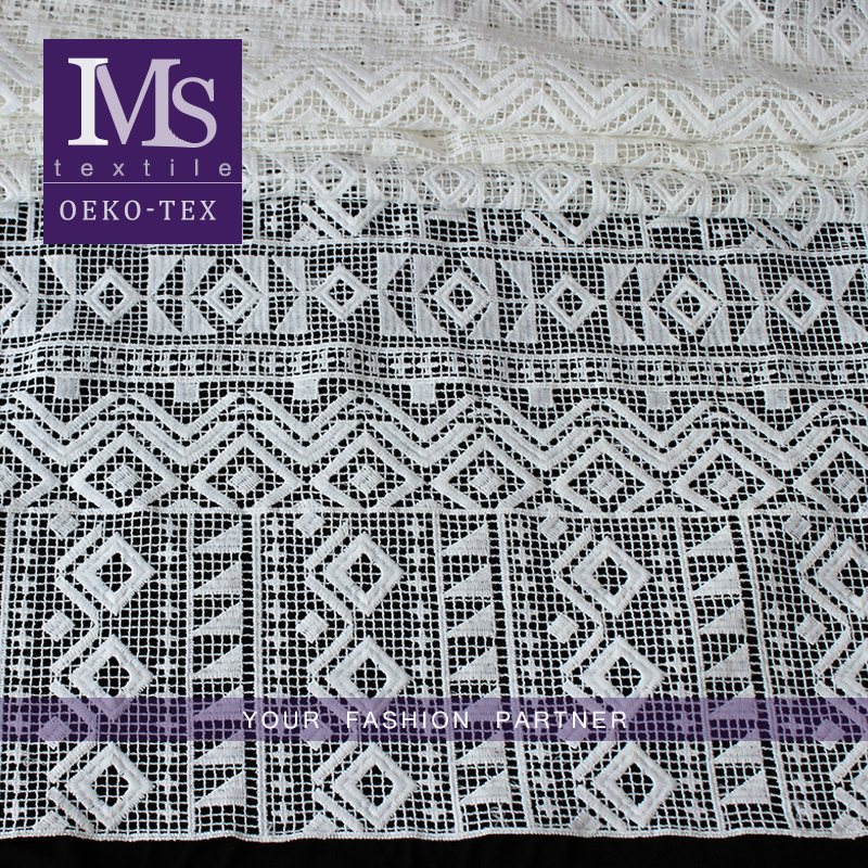 Wholesale white indian Soft thin polyester embroidery baby Lace Fabric