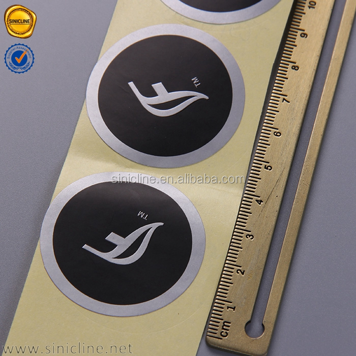 Sinicline best sale paper custom black sealing logo stickers for gift