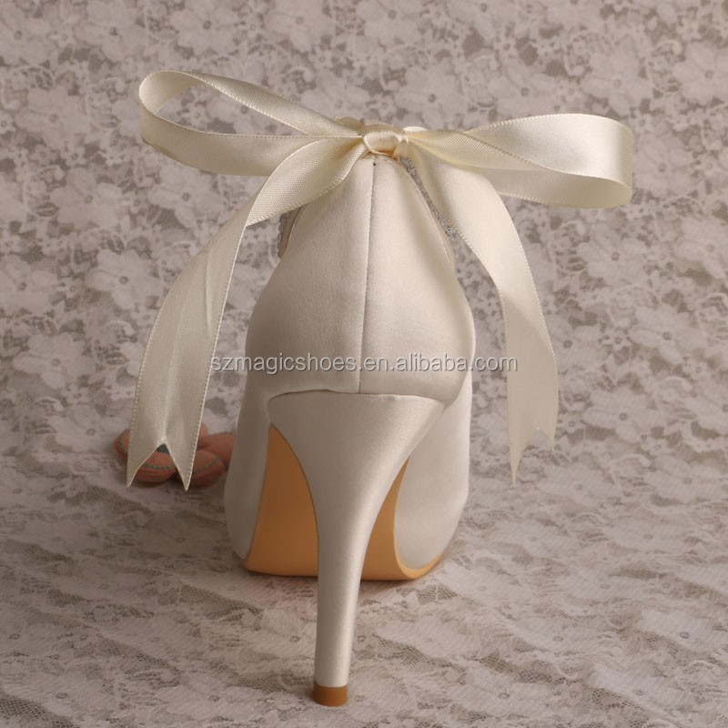 Ribbon Strap Bridal Shoes for Wedding in Summer