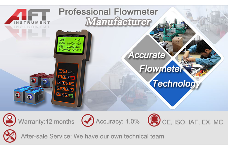 handled type ultrasonic flow meter wireless output water flowmeter