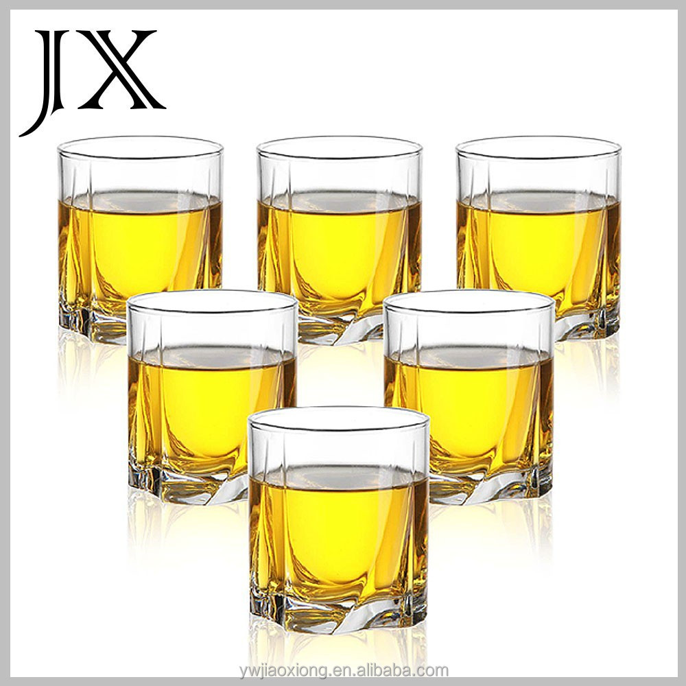 customized logo set of 6 shot glass whisky cup made in china