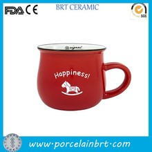 Wholesale wedding gift ceramic red Enamel Cup