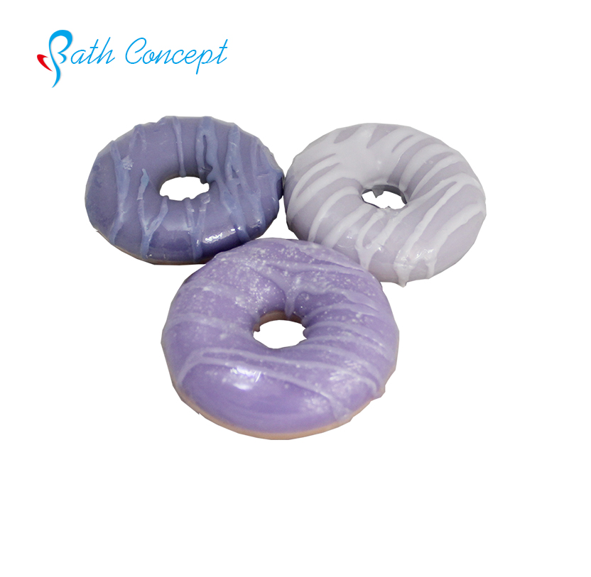 New f donut food shaped cute small round soap