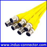 Straight shielding m12 5P industrial ethernet cable yellow color
