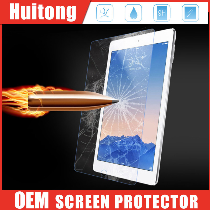 Premium tempered glass film for ipad pro, 0.3mm 9H hardness screen protector with ROHS and ISO