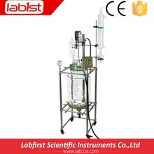 High quality borosilicate 3.3 pyrex glass Jacketed Glass chemical Reactor