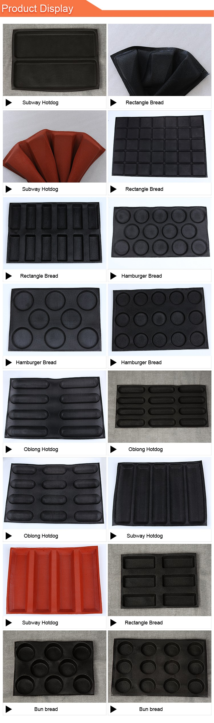 For baking silicone hamburger tray