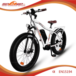 SOBOWO S34-1 offroad ebike durable green easy to go bike/electric bicycle