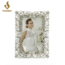 Photo Frames Baroque 5X7 Metal Picture Frame Hollow Butterfly Pattern Craft Frames