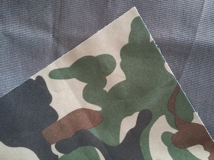 printed 4 way stretch military camouflage sandwich fabric