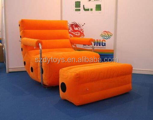 inflatable orange lazy sofa for livingroom