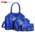 2017 new design hot selling shoulder bags women PU leather handbag set