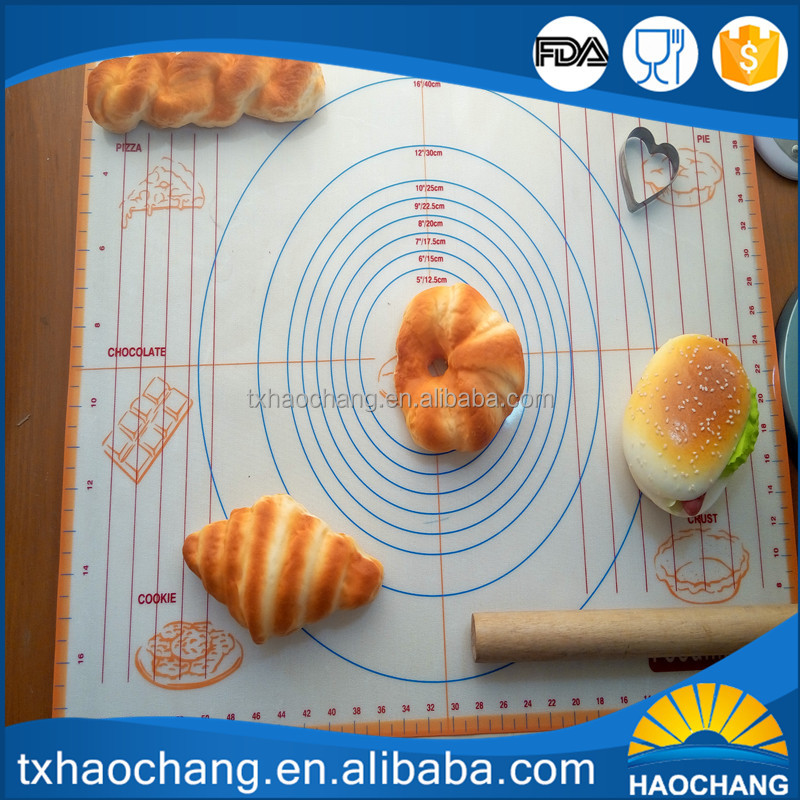 Chef Special,Non Stick,Non Slip Extra Large Silicone Baking Mat for Pastry Rolling with Measurements(40x60cm)