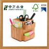 Wooden wholesales natural wood handmade bamboo desktop organizer wooden pen holder