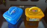 Super lock plastic storage box, storage container, storage bin set with handles