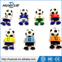 World Cup Brazil 2014 Football Men Silicone Cartoon Character USB Flash Drives
