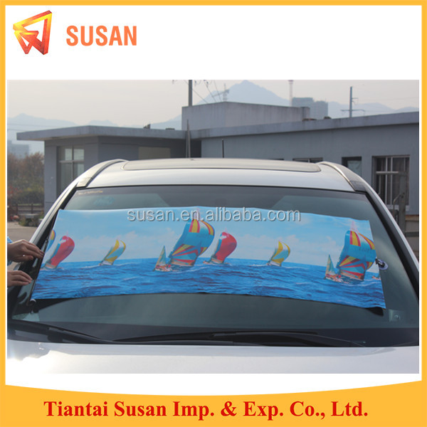 front roller sun shades for car blinds